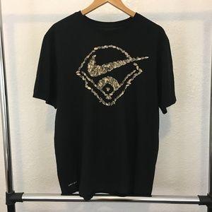 Nike Black Baseball Sunflower Seed T-Shirt